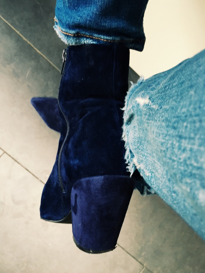 blue boots for blue monday